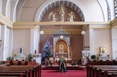 Rozloučení v kostele