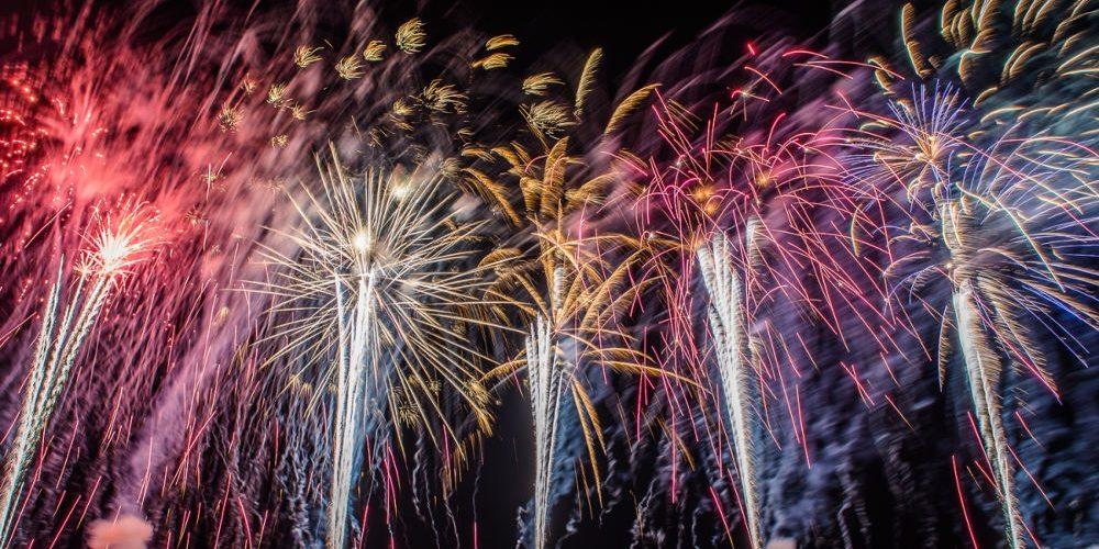 Novoroční ohňostroj v Hradci